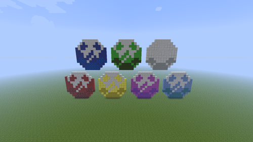Chaos Emeralds. - minecraft-pixel-art Fan Art