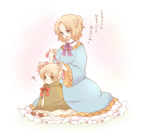 Chibi France and England