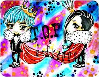 malaking putok wolpeyper called Chibi T.O.P & G-Dragon Oppa!