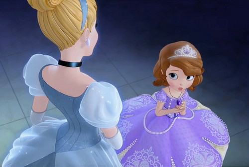 Sofia The First achtergrond titled Cinderella and Sofia