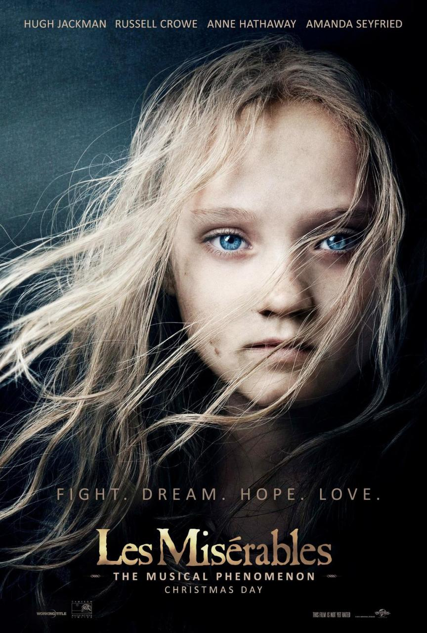 Les miserables 2012 movie cosette official movie poster