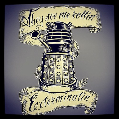 Doctor Who kertas dinding titled Dalek Funnies