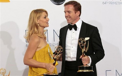 Damien Lewis & Claire Danes Winners at the Emmy Awards 2012