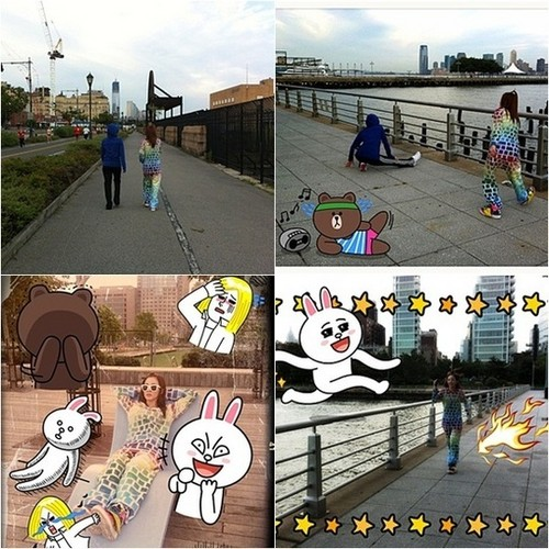 Dara and Minzy go jogging together