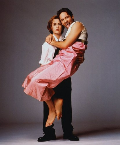 The X-Files wallpaper with a coquetel dress called David in rosa, -de-rosa :)))