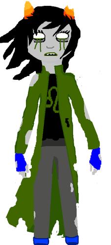 Homestuck پیپر وال possibly containing a surcoat, سورکوت and a tabard, تکمہ entitled Dead Nepeta