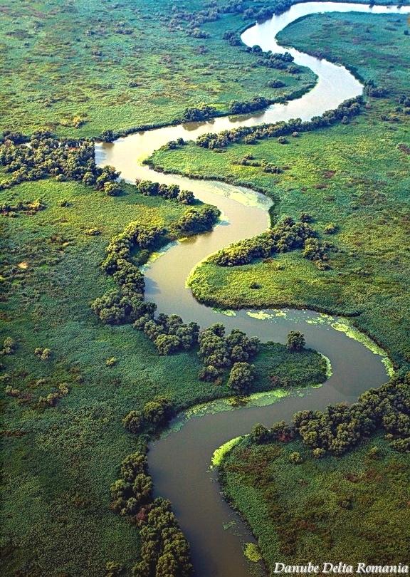 Delta Dunarii - Danube Delta Romania - aerial pictures Romenia
