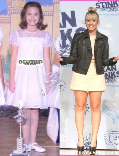 demi lovato wallpaper probably with bare legs, a well dressed person, and a hip boot entitled Demi Lovato Before And After