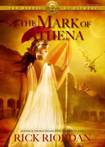 Different version of the cover of The Mark of Athena