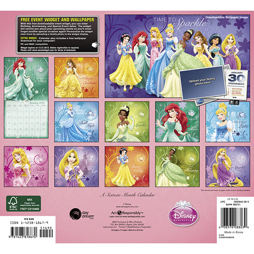 Disney Princess Calendar 2013