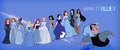 Disney Princessess in blue
