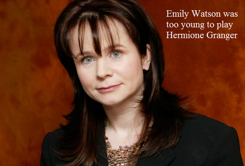 Harry Potter Vs. Twilight wallpaper possibly containing a portrait titled Edda Watson was too young to play Hermione