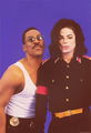 Eddie Murphy and Michael Jackson  - eddie-murphy fan art