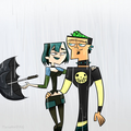 Feel the rain - total-drama-island fan art