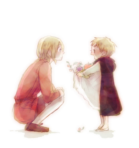Hetalia wallpaper probably containing a cocktail dress entitled France & England Kids
