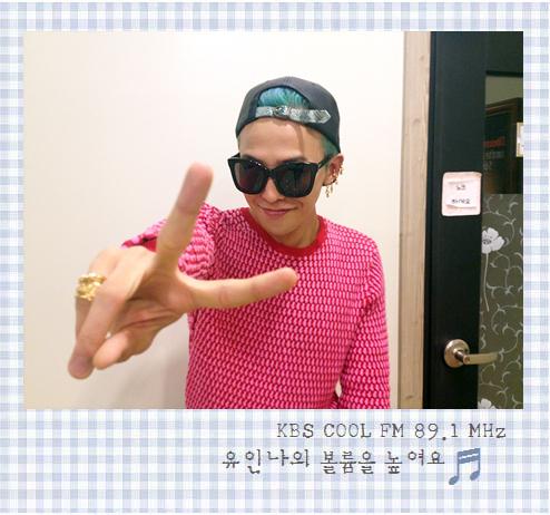"""G-Dragon @ Yoo In Na's """"Volume Up"""" (120919)"""