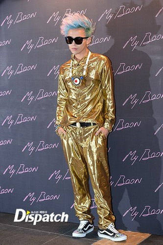 G-Dragon dresses in all 金牌 for Ambush launch party in Gangnam