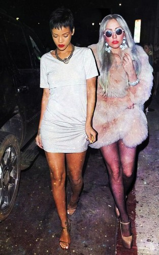 Gaga and Rihanna