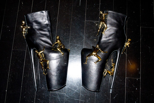 Gaga's boots for FAME launch