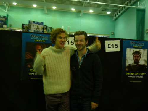 Game of Thrones wallpaper probably containing a diner and a multiplex titled Gethin Anthony & Finn Jones @ 2012 Wales Con