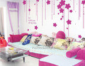 Go With You All My Life Flower Curtain Wall Stickers