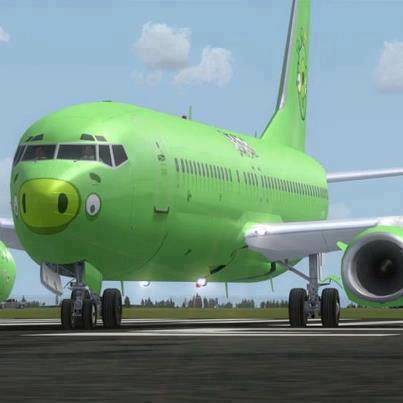 Green Pig Plane