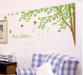 Green Sonata pokok With Birds dinding Sticker