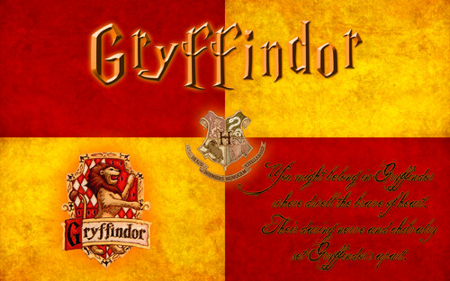 Harry Potter wallpaper probably containing a sign and anime entitled Gryffindor