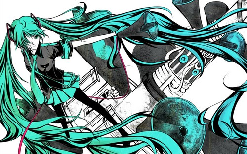Hatsune Miku kertas dinding with Anime called Hatsune Miku (love is war)