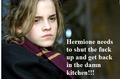 Hermione needs to shut up - harry-potter-vs-twilight fan art
