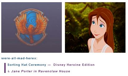Jane Porter is in Ravenclaw House