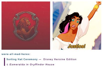 Esmeralda is in Gryffindor House
