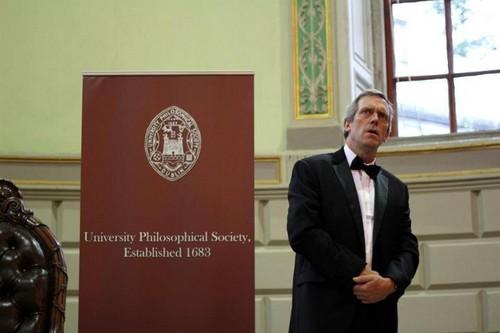 Hugh Laurie at Trinity College Dublin. 19.09.2012