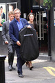 Hugh Laurie is seen exiting a tuxedo rental koop on Grafton straat 19.09.2012