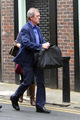 Hugh Laurie is seen exiting a tuxedo rental Shop on Grafton straße 19.09.2012
