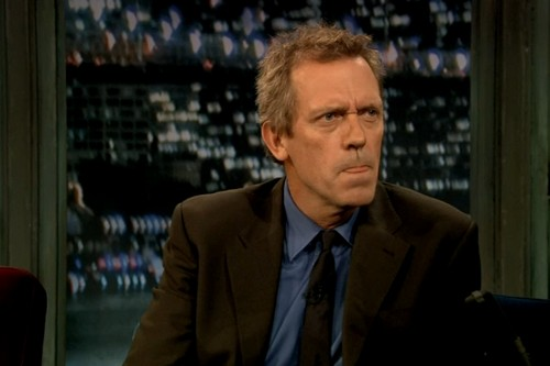 Hugh Laurie on Late Night with Jimmy Fallon 14.9.2012 (tongue)