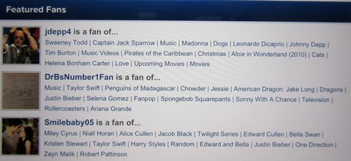 I'm a Featured Fan!
