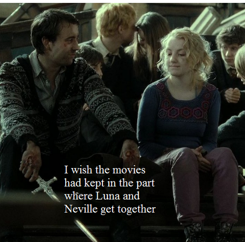 I with the films kept Neville and Luna's relationship