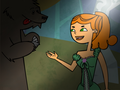 Izzy and the bear - total-drama-island fan art