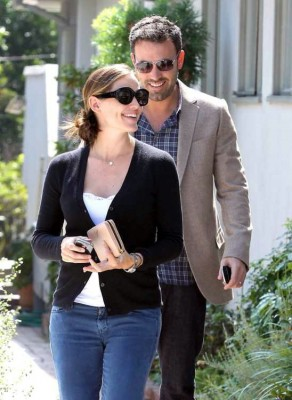 Jen and Ben take a stroll