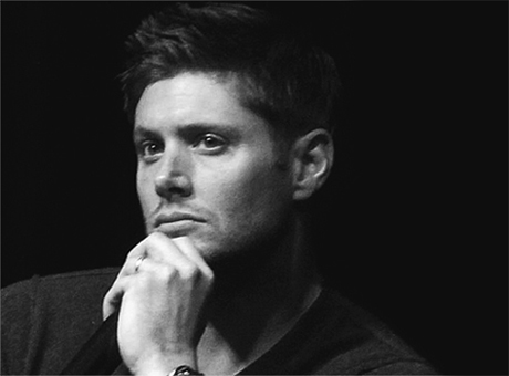 Jensen Ackles prove that thinking can be sexy