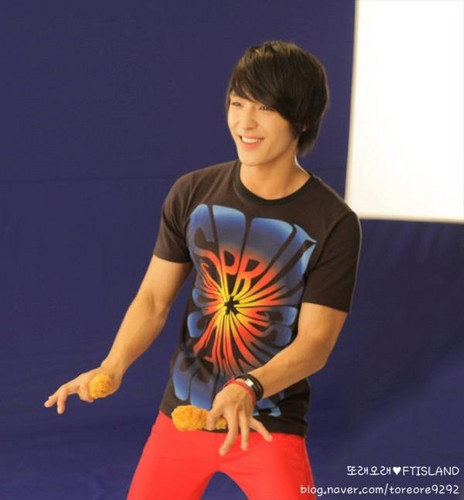 Jonghoon's Toreore CF Making foto Shoot