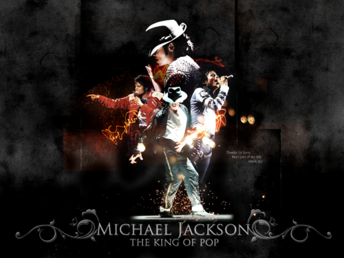 Michael Jackson wallpaper containing a concert and a guitarist titled KING OF POP