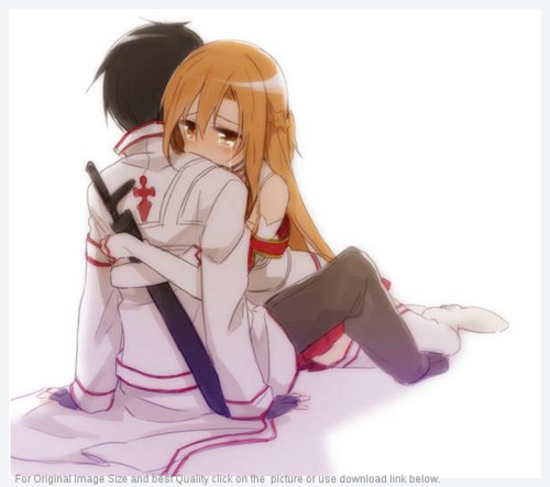 Sword Art Online wallpaper possibly with a portrait entitled Kirito and Asuna