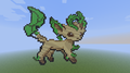Leafeon! - minecraft-pixel-art fan art