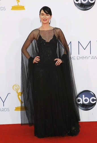 Game of Thrones wallpaper probably with a dinner dress entitled Lena Headey @ 2012 Emmy Awards