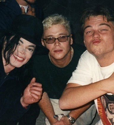 Leonardo DiCaprio tries to do a cute MJ pouty face... FAILS!!!