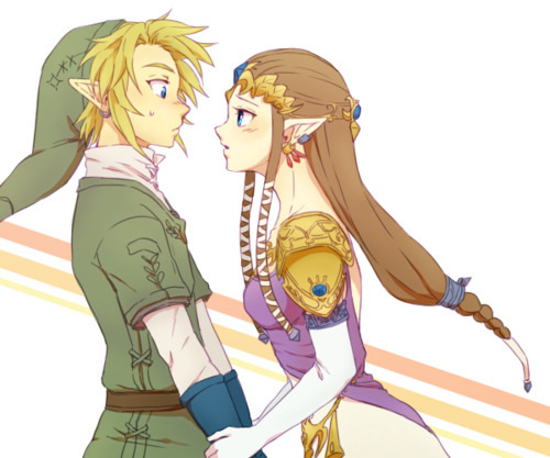 The Legend of Zelda wallpaper possibly with anime entitled Link and Zelda