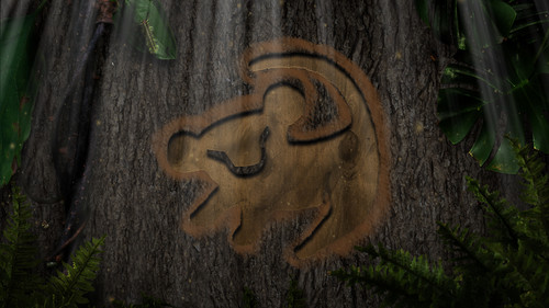 Lion King: Simba symbol epic background