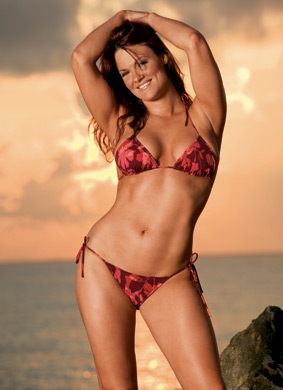 "Amy ""Lita"" Dumas wallpaper with a bikini entitled Lita Photoshoot Flashback"